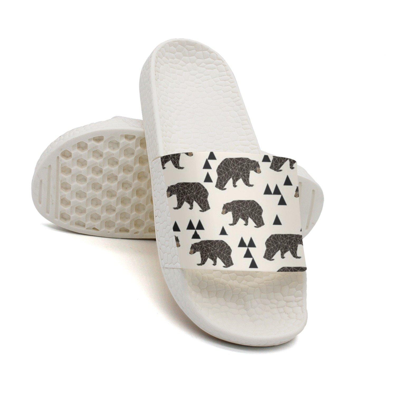 HSJDAPOCOAQ Geo Bear Fabric Summer Slippers For Men