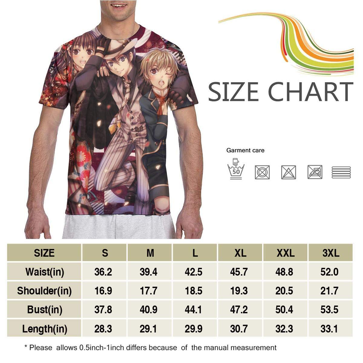 SHANGQINGYUN Noragami Anime Men Two Side Print Polyester Short Sleeve T Shirt