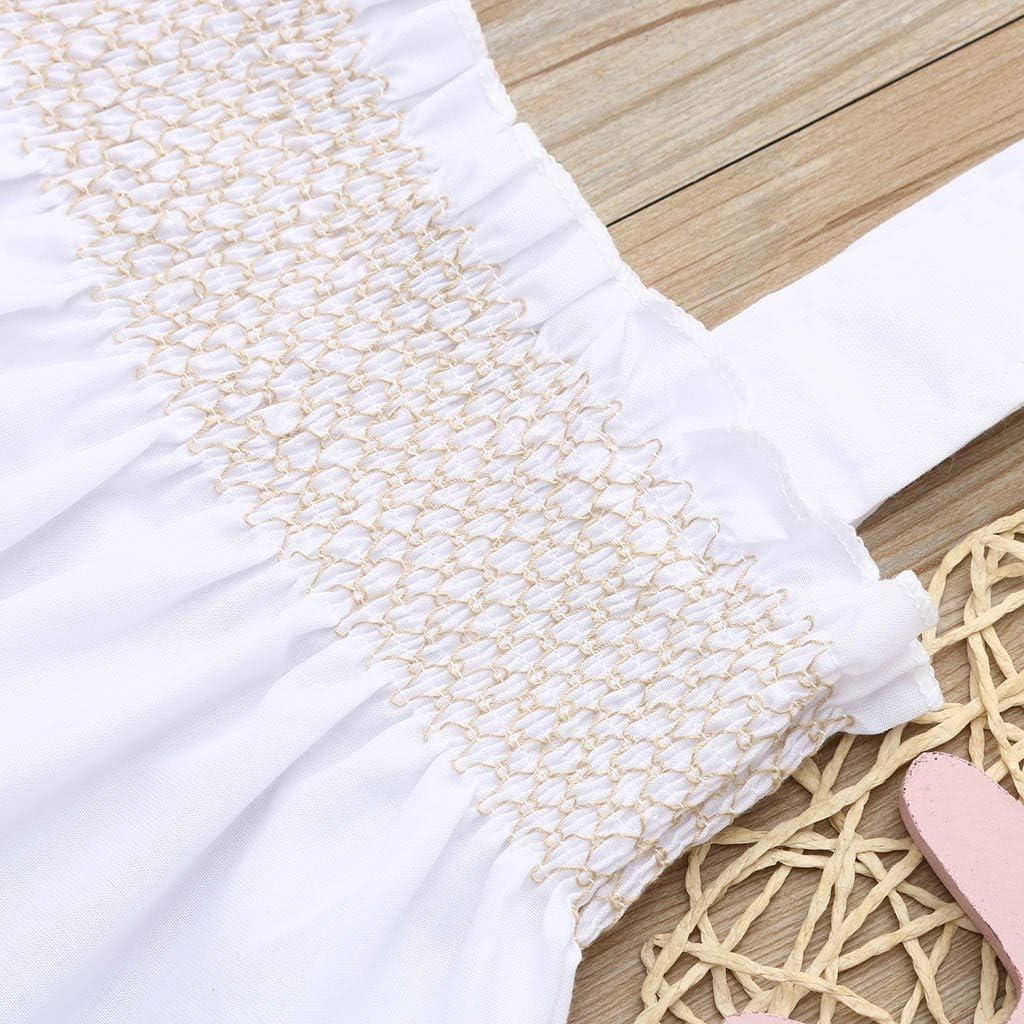 MOGOV Newborn Toddler Baby Girls Summer Solid Suspender Vest Tops+Pants+Ruffle Sun Hat Angle Set Outfit