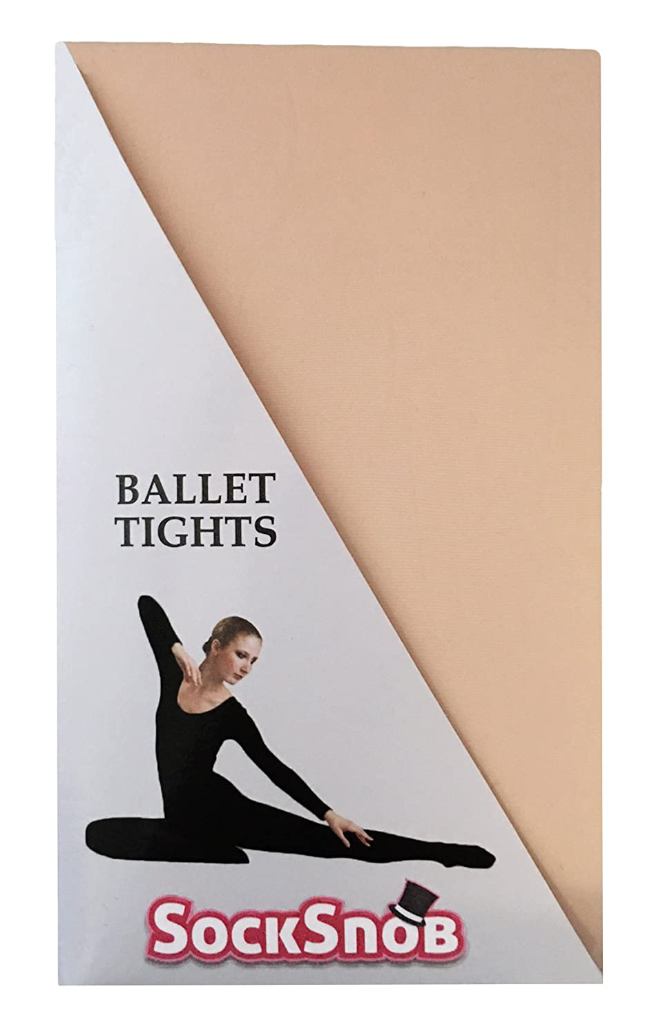 Girls Pink Ballet Tights by Belle Dancewear Full Foot child large 9-11 years