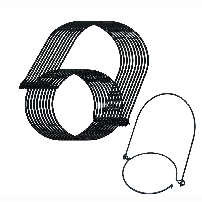 Mason Jar Hanger, Black Stainless Steel Wire Handles (Handle-Ease) for Canning Jars, Prefect for Mason,Ball,Kerr,Golden Harvest,Kilner Jars (Regular Mouth, 10Pack-Black Stainless Steel)