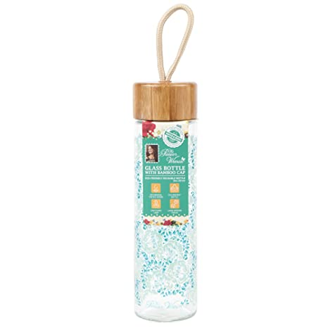 df18aefa5b63 Amazon.com: The Pioneer Woman 20 oz. Glass Bottle with Bamboo Cap in ...