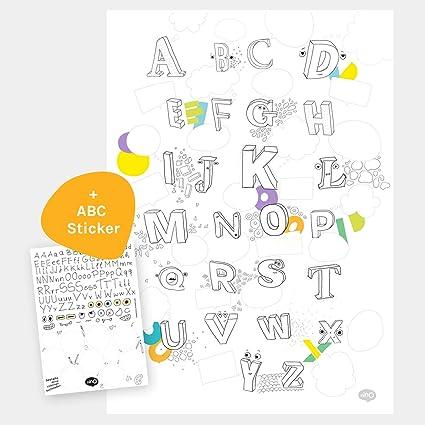 Creative Abc Di Poster A2 Per La Camera Dei Bambini Kita O Scuola