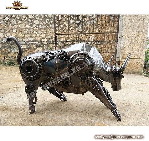 Ironemperor Escultura de Vaca de Fibra de Vidrio de tamaño Real, Abstracto, Arte de jardín, esculturas de Metal, Bronce o latón: Amazon.es: Jardín