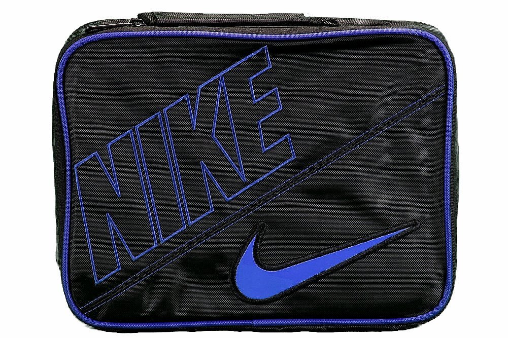 Nike Insulated Lunch Tote Box Black Royal Blue,One Size
