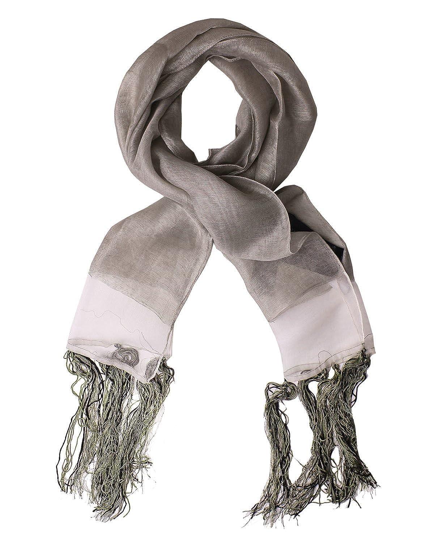 DIESEL BLACK GOLD - Viscose Linen and Silk Neckerchief - Scarf 71x11 in/180x27 cm FLYUT One size