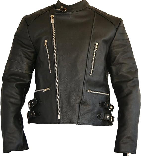 Sgi Bike Old School Lederjacke Motorradjacke Bikerjacke Leder Jacke 5x Protektoren Neu L Schwarz Schwarz Bekleidung