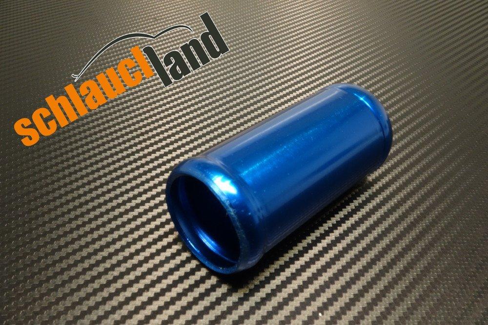 Alu-Verbinder AD 41mm alu poliert*** Alurohr Aluminium Rohr Verbinder Alu Silikonschlauch Schlauchland