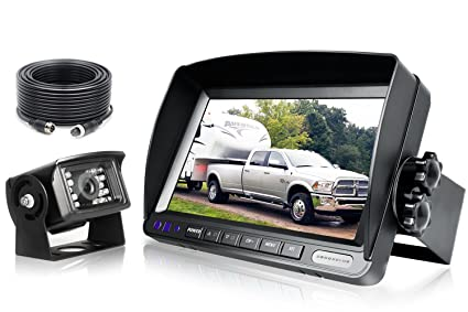 Backup Camera System >> Zeroxclub Digital Backup Camera System Kit Sharp Ccd Chip 100 Not Wash Up Ip69 Waterproof Rear View Camera 7 Lcd Reversing Monitor For