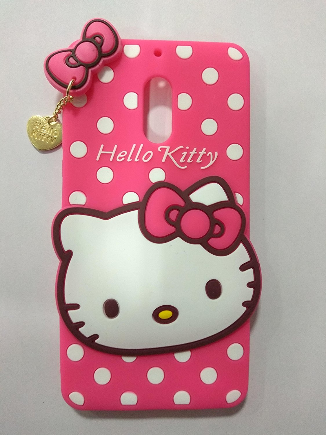finest selection 6dd22 0c7d5 Trifty Girl's Back Cover Hello Kitty Silicon With Pendant For Nokia 6 - Pink
