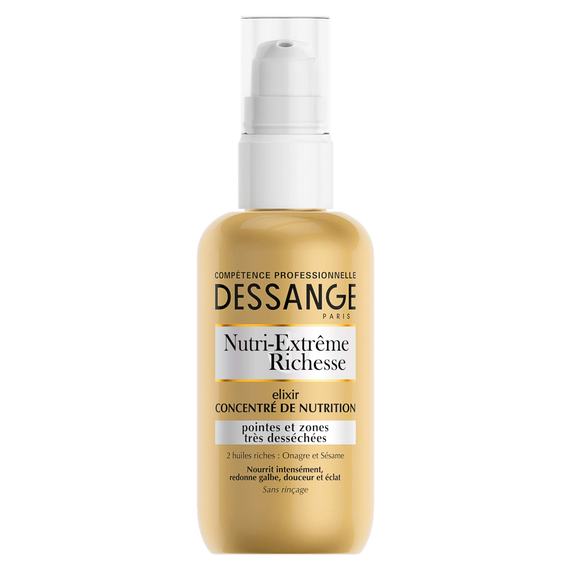 Dessange Nutri-Extreme Richness Elixir Concentrated Nutrition Care No Rinse for Very Dry Tips and Areas 100 ml
