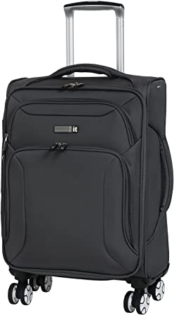 36 23 54 Size Aishanghuayi Suitcase for Expandable 8-Wheel fine-Tuning Consignment Suitcase Black cm Color : Dark Gray, Size : 151020 inch
