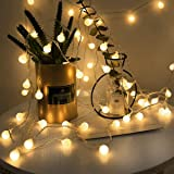 Guirnaldas Cadena de Luces LED USB, LOHAS Decoracion Interior, 5 Metros con 40 Bombillas, Luces Decorativas Blanco…