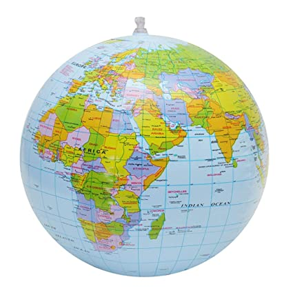 YOUZHIXUAN Recursos didácticos Globo inflable Mundo Tierra Mapa ...