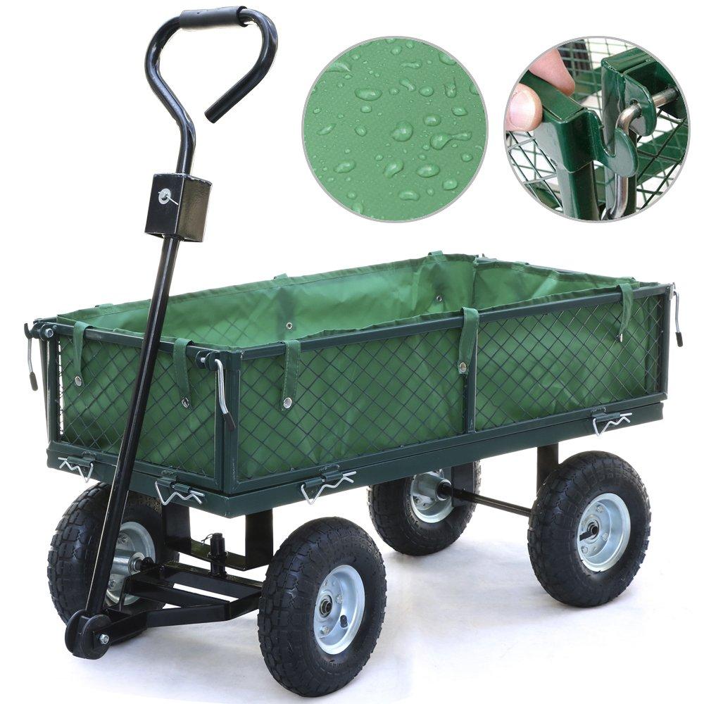Popamazing 600D PVC Handy 43 x 17 x 20 (LxWxH) Small Garden Trolley/Cart
