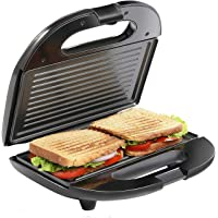Impex SW 3601 Sandwich Maker 2 Slice with Non Stick Coated Plate Skid Resistant Feet Cool Touch Housing, Black