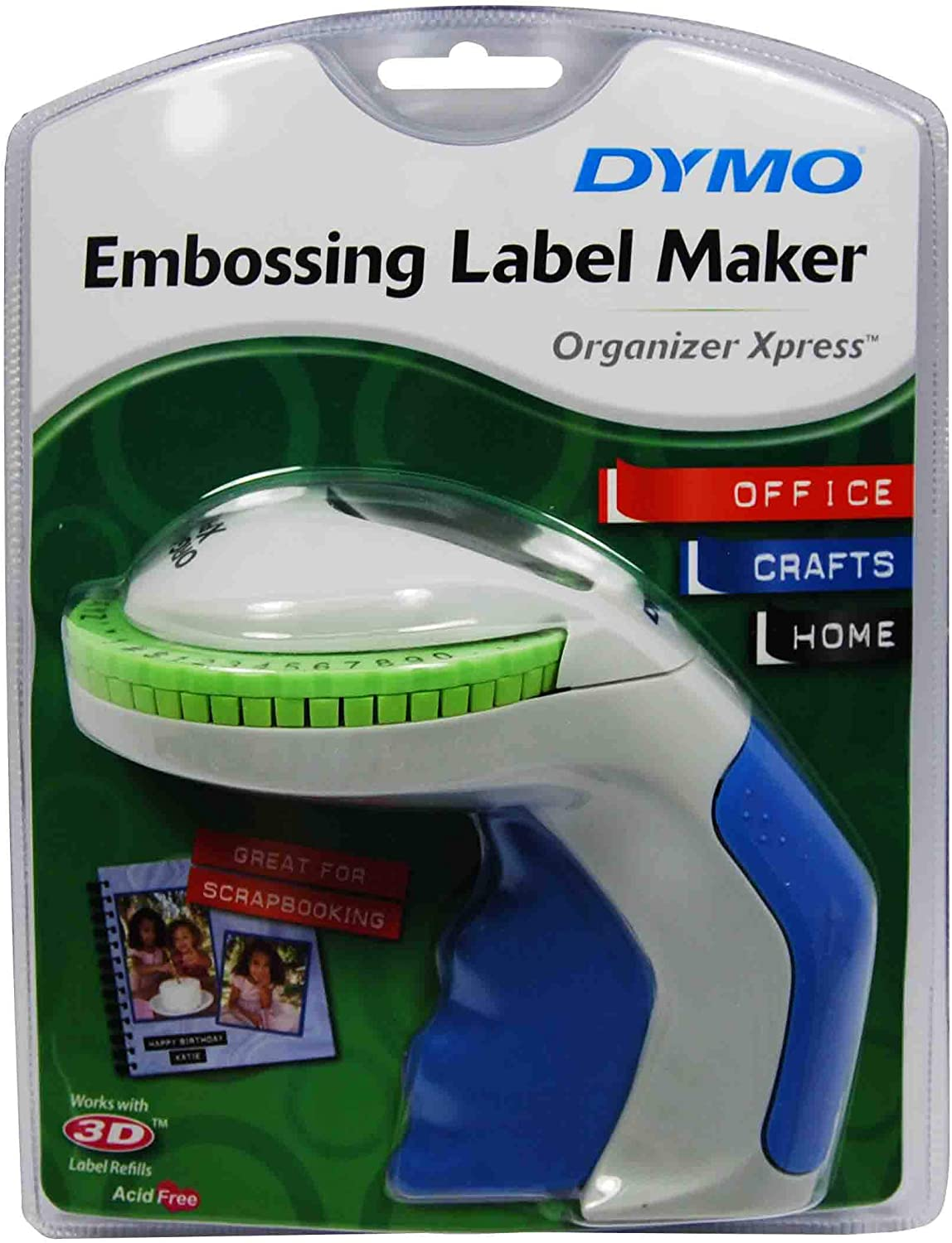 DYMO Organizer Xpress Handheld Embossing Label Maker (12965) : Label Applicators : Office Products