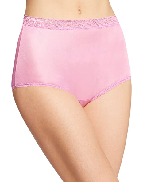 f134ff58a Hanes Women s Nylon Brief Panties 6-Pack at Amazon Women s Clothing store