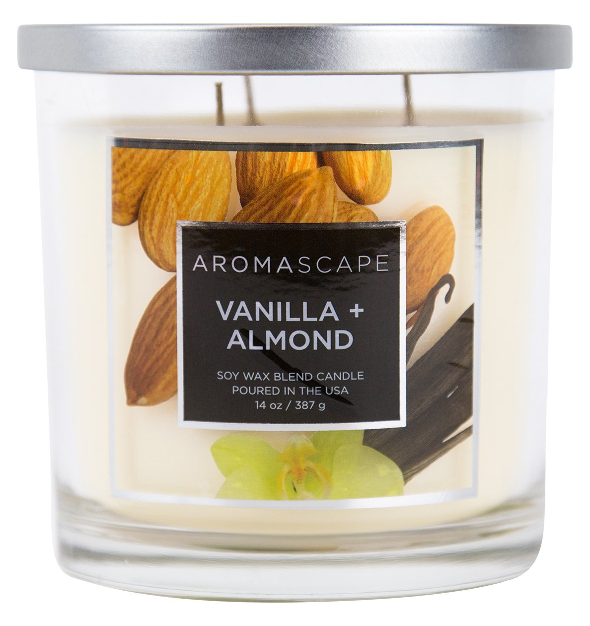 Aromascape 3-Wick Scented Jar Candle, Lavender and Vanilla, Single Chesapeake Bay Candle PT40498