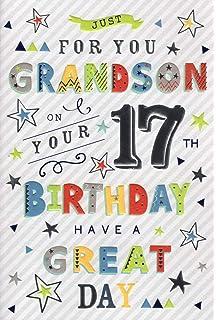 Special Grandson 17th Birthday Card