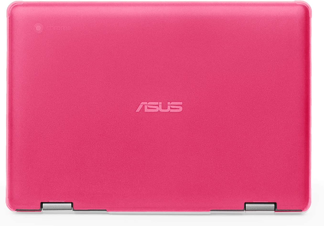 mCover Hard Shell Case for 2019 11.6-inch ASUS Chromebook Flip C214MA Series (NOT Compatible with Other ASUS Chromebook Model) Laptop – ASUS C214 Pink