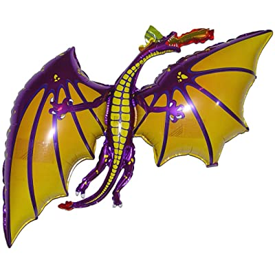 SPACE PET Anti-Gravity Hovering Flying Floating DRAGON Purple 36 inch Toy Pet Balloon Party Favor: Toys & Games