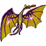 """36"""" DRAGON BALLOON (PURPLE) - Amazing New HOVERING ANTI-GRAVITY TOY - Free Floating, FLYING Fantasy Game Of Thrones Fairy Tale Animal Kingdom Birthday Party Favor"""