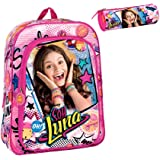 Backpack Soy Luna Disney 42cm School Bag Daypack Adaptable Bundle with Pencilcase … (Surprise)