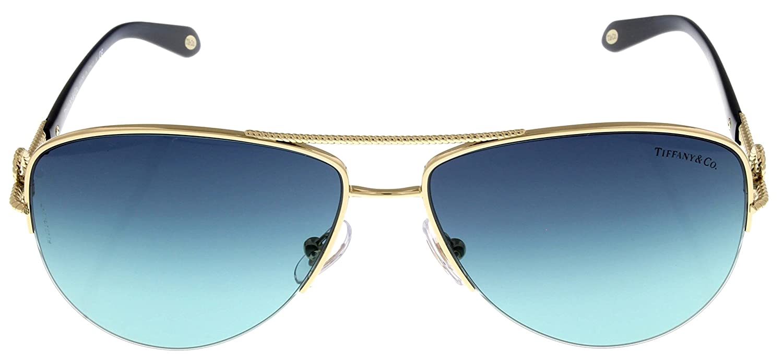 8f0ec43e67 Amazon.com  Tiffany   Co Sunglasses Women Gold Aviator TF3046 60949S   Clothing