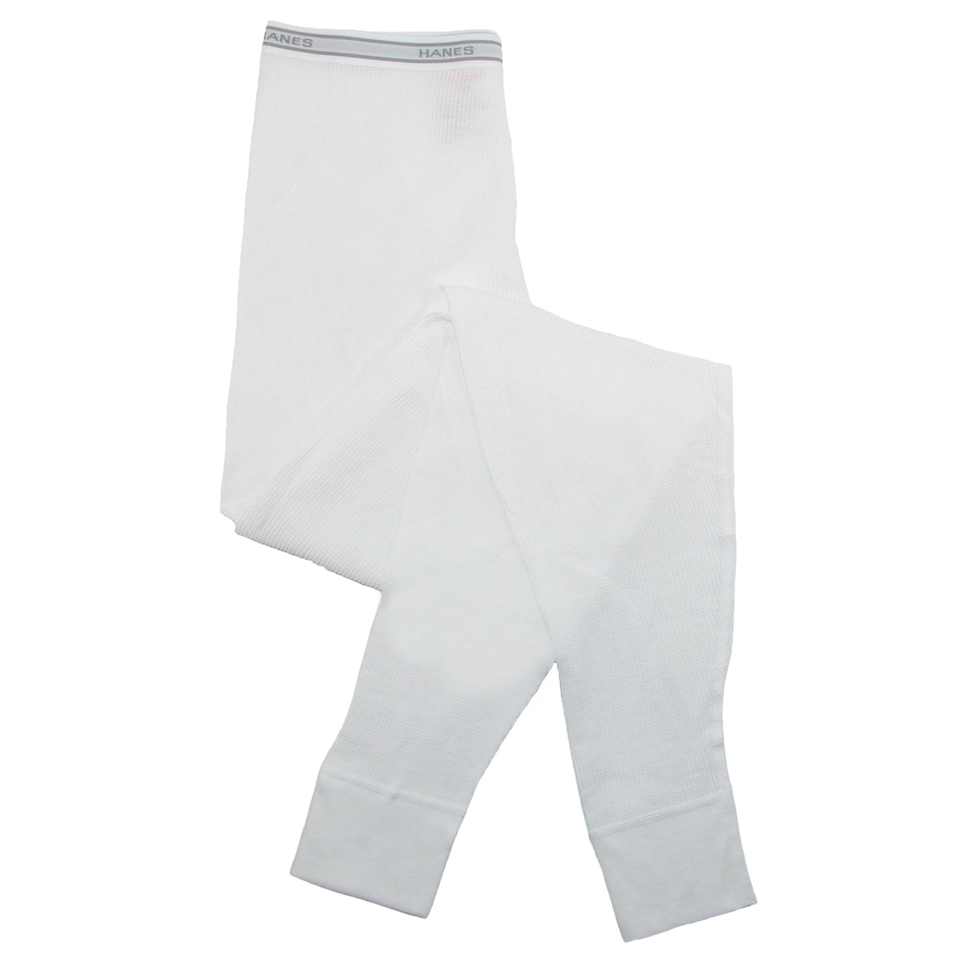 Hanes Women's Thermal Pants, Small, White