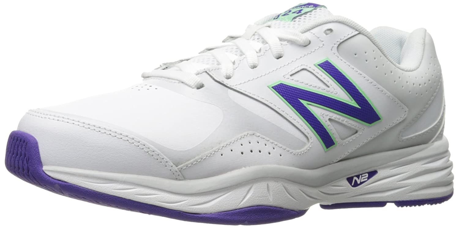 New Balance Women's WX824 Training Shoe B01FSILXCW 7.5 2E US|White