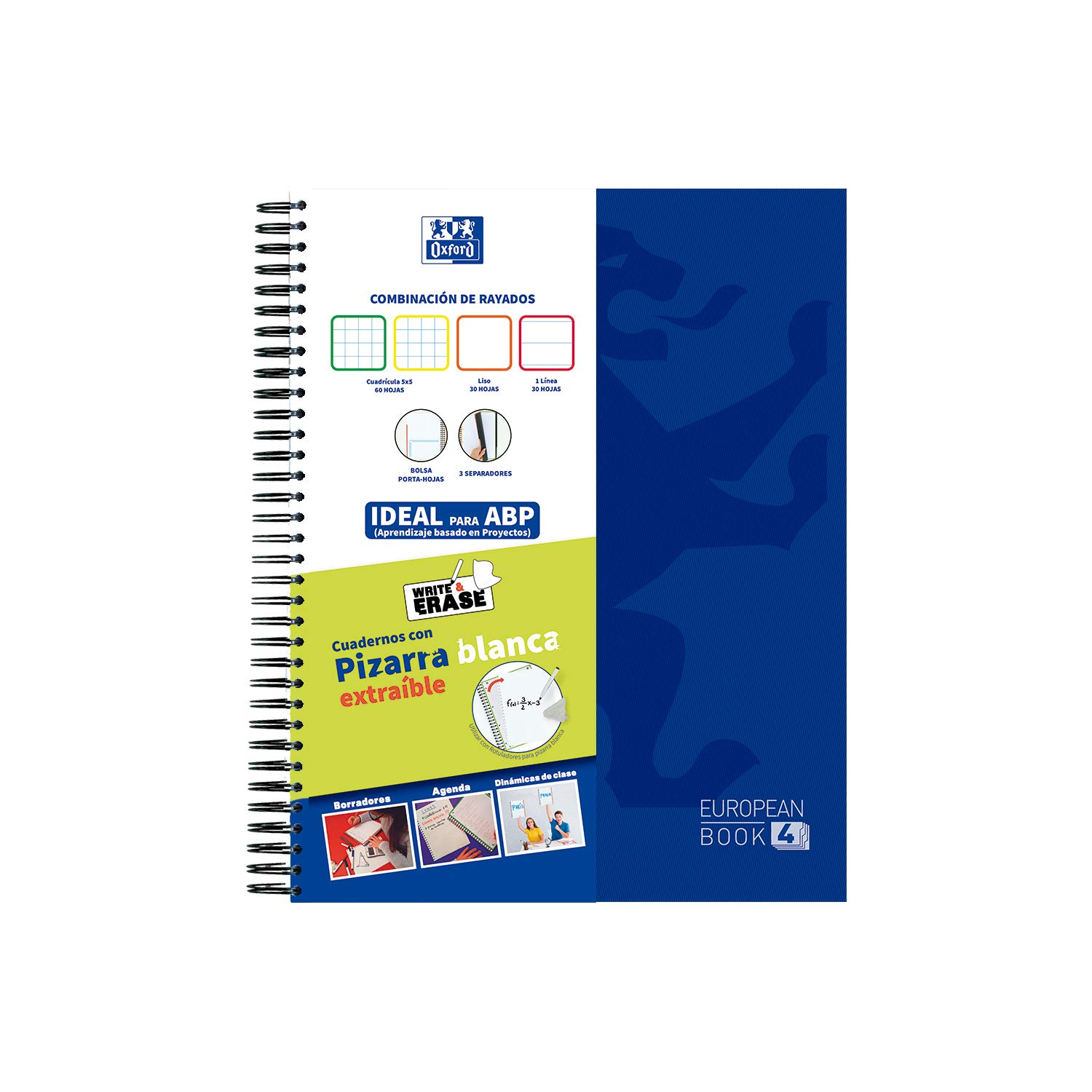 Amazon.com : EUROPEANBOOK 4 WRITE&ERASE CHOOL CLASSIC TE A4+ ...