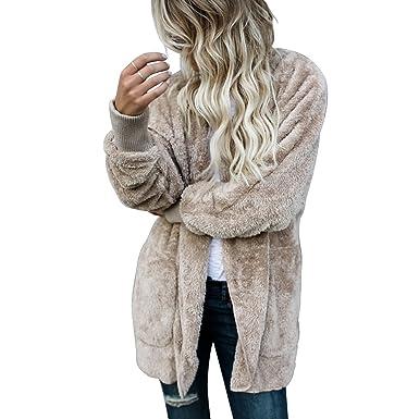 Damen jacke in felloptik
