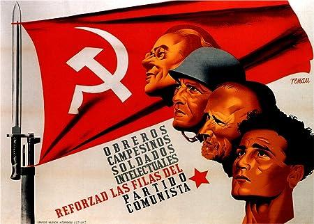 Guerra Civil Española Vintage c1936-39 Propaganda el partido ...