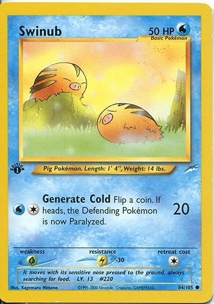 Pokemon Neo Destiny 1st Edition Common Card #84//105 Swinub