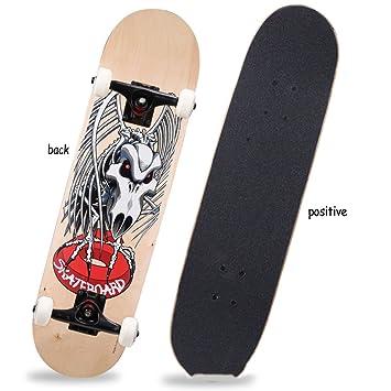 MEI Monopatín Monopatín Monopatín Skate Monopatín Doble Niños Alicia  Monopatín De Cuatro Ruedas Skateboarding Skateboarding Principiantes 52a45191fd3