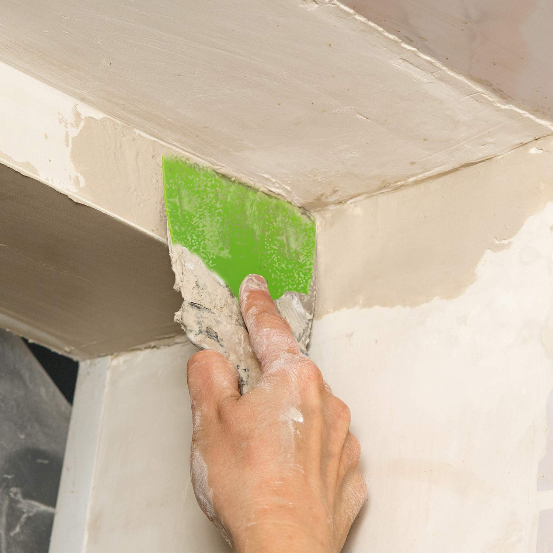 2 pulgadas, 4 pulgadas, 6 pulgadas Juego de 6 cuchillos de masilla de pl/ástico flexible para calcoman/ías horneado papel pintado pared y coche masilla verde