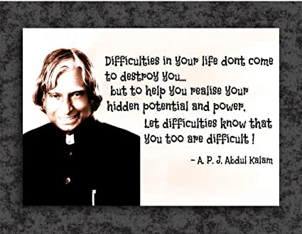 Tamatina Inspirational Thoughts Poster Dr APJ Abdul Kalam Unique Inspirational Thoughts