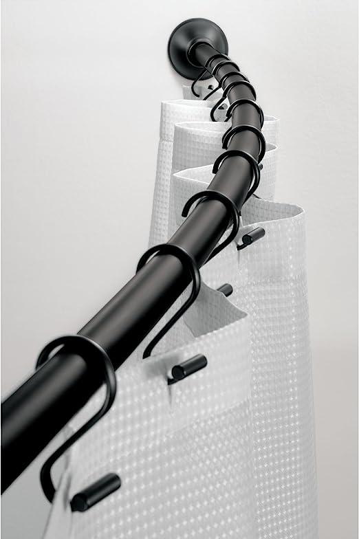 Amazon.com: iDesign Curved Metal Shower Curtain Rod, Adjustable