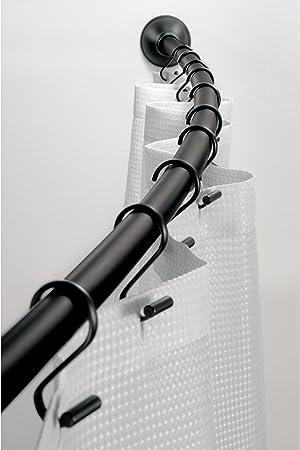 Amazon Com Idesign Curved Metal Shower Curtain Rod Adjustable
