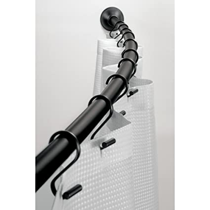 Image Unavailable Not Available For Color InterDesign Curved Metal Shower Adjustable Customizable Curtain Rod