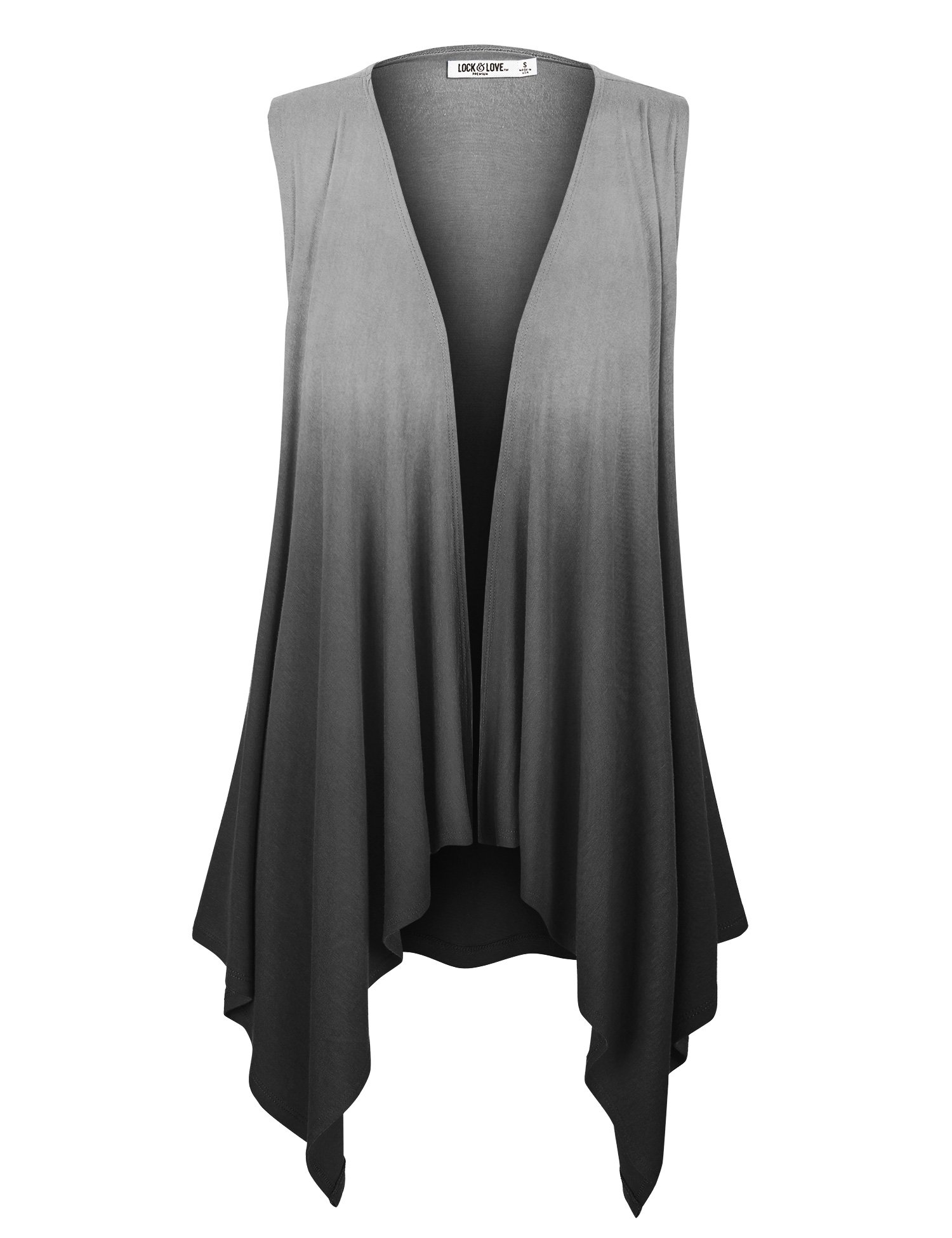 69f9d0d8f8144 LL Womens Lightweight Sleeveless Ombre Open Front Cardigan Vest - Made in  USA