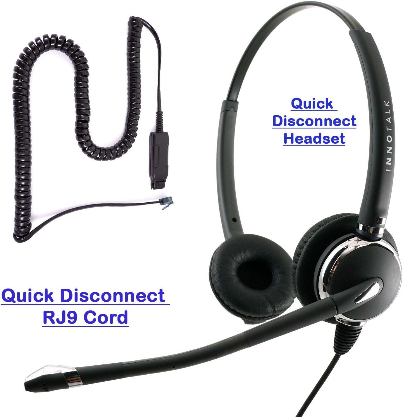Headset for Avaya 1600 9600 1608 9608 9610 9611 9611G SNOM 320 360 370 720 760