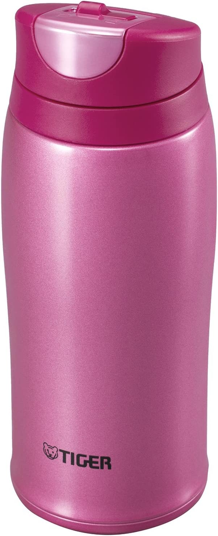 Tiger Corporation MCB-H036-PR Stainless Steel Vacuum Insulated Travel Mug, 12 oz, Pink