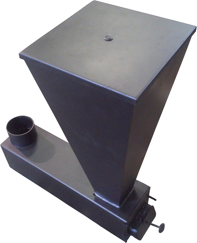 Estufa policombustible Hueso cáscara pellets orujo piñón