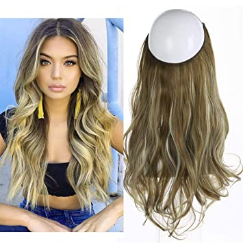 SARLA Synthetic Wavy Halo Hair Extension