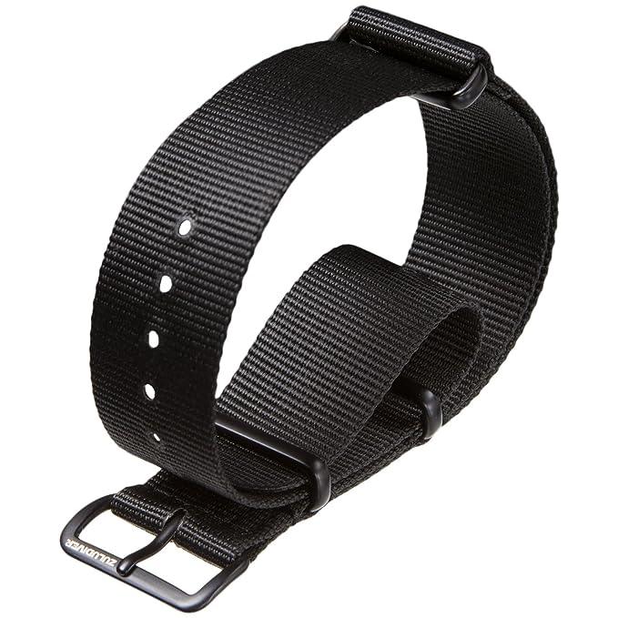 103 opinioni per NATO Military G10 zuludiver®-Cinturino in Nylon, colore: nero con finiture di