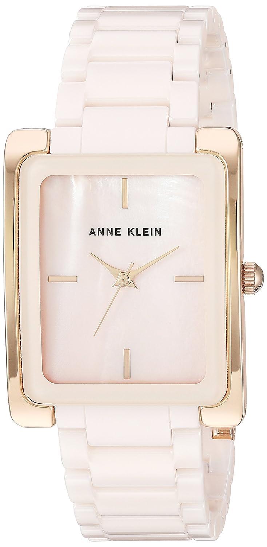Anne Klein Women S Ak 2952lprg Rose Gold Tone And Light Pink Ceramic Bracelet Watch