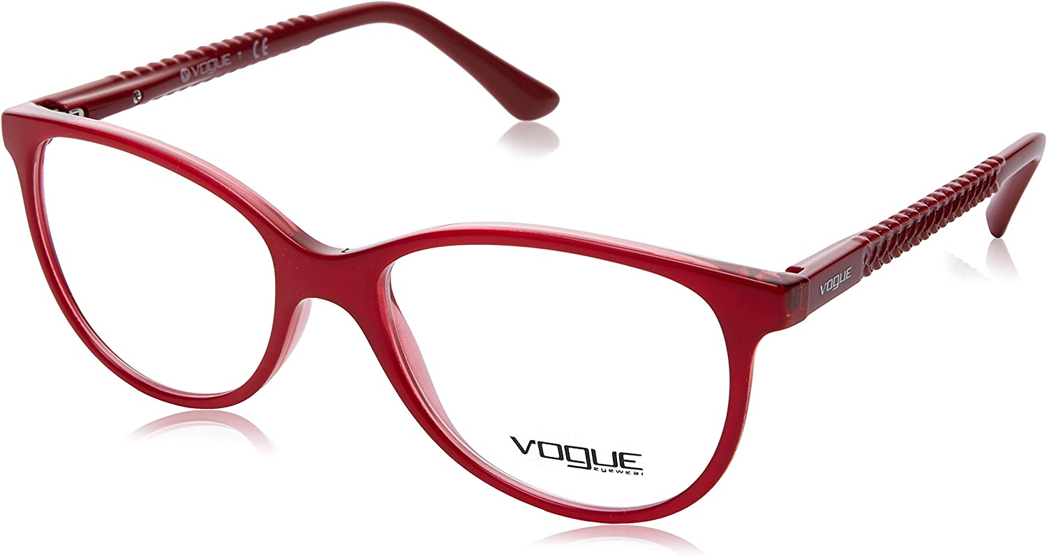 Topaz Red//Red Transparent Vogue VO5030 Eyeglass Frames 2470-53