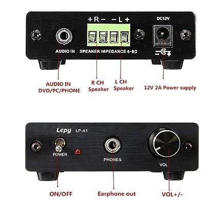 Amplificador de Audio Estéreo de Alta fidelidad de la Aleación de Aluminio para el Entusiasta de